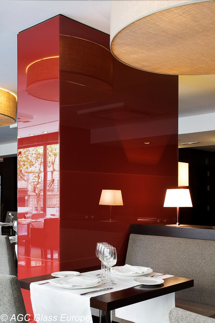 Krystal Kolours is premium ultra-clear glass back-painted in a variety of colors. This is great for wall cladding, kitchen back-splashes, white boards...