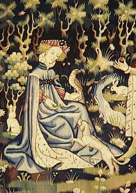 paris vers 1400 1410 l 39 offrande du coeur vers 1400 1410 arras tapisserie laine et soie h. Black Bedroom Furniture Sets. Home Design Ideas