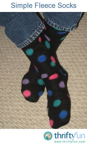 This guide is about making fleece socks. Fun gifts can be made using fleece to make warm and cozy socks.