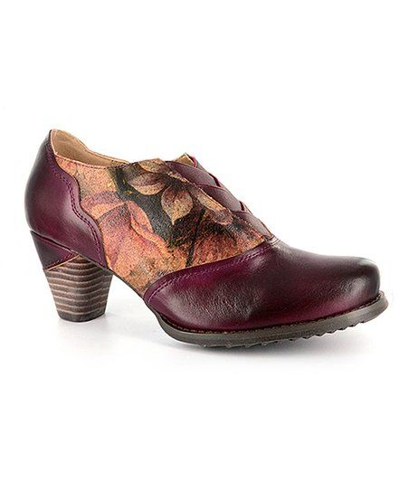2a62d9213526 Elite by Corkys Burgundy Shade Leather Pump