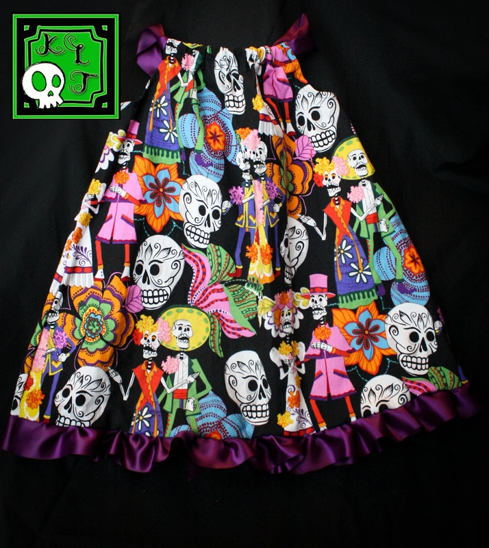 day of the dead baby / toddler dress - KLTboutique