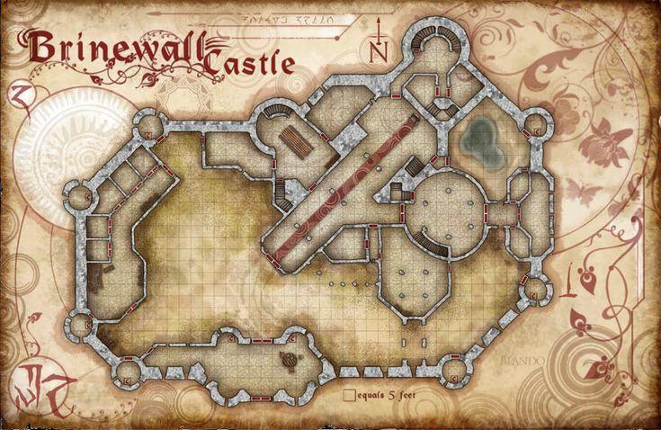Brinewall castle map1