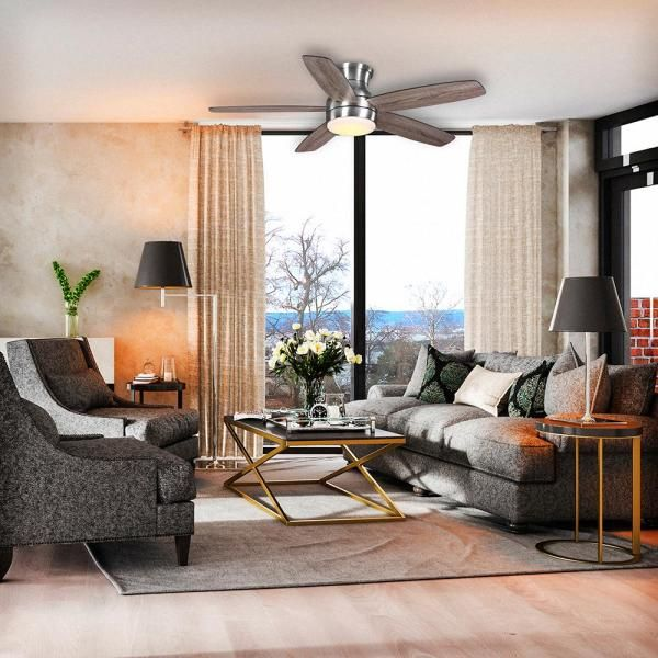 Home Decorators Collection Ashby Park 52 In White Color Changing Integrated Led Bronze Ceiling Fan With Light Kit And Remote Control 59253 The Home Depot In 2020 Ceiling Fan With Light