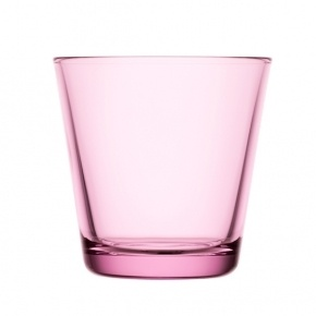 Simple pink drinking glass