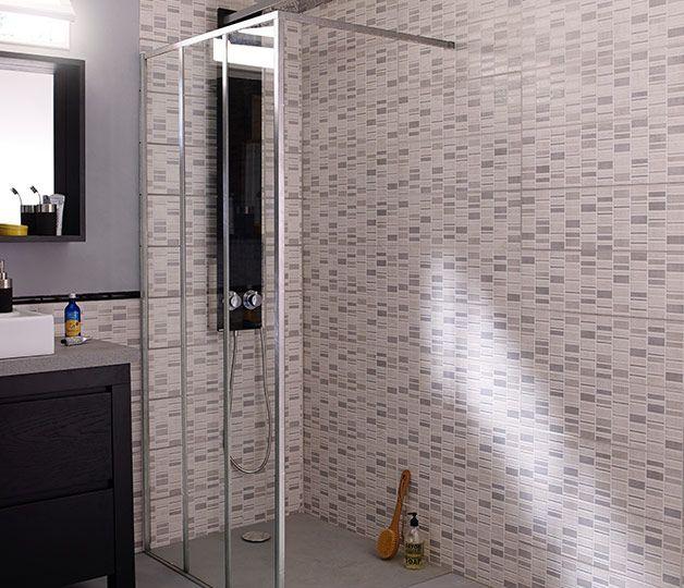 17 meilleures images propos de rev tements sols sur pinterest mix match - Plaque mural salle de bain ...
