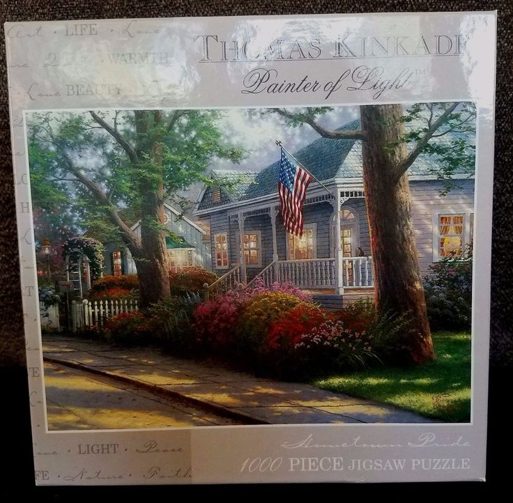 "Thomas Kinkade 1000 piece puzzle ""Hometown Pride"" new in box"