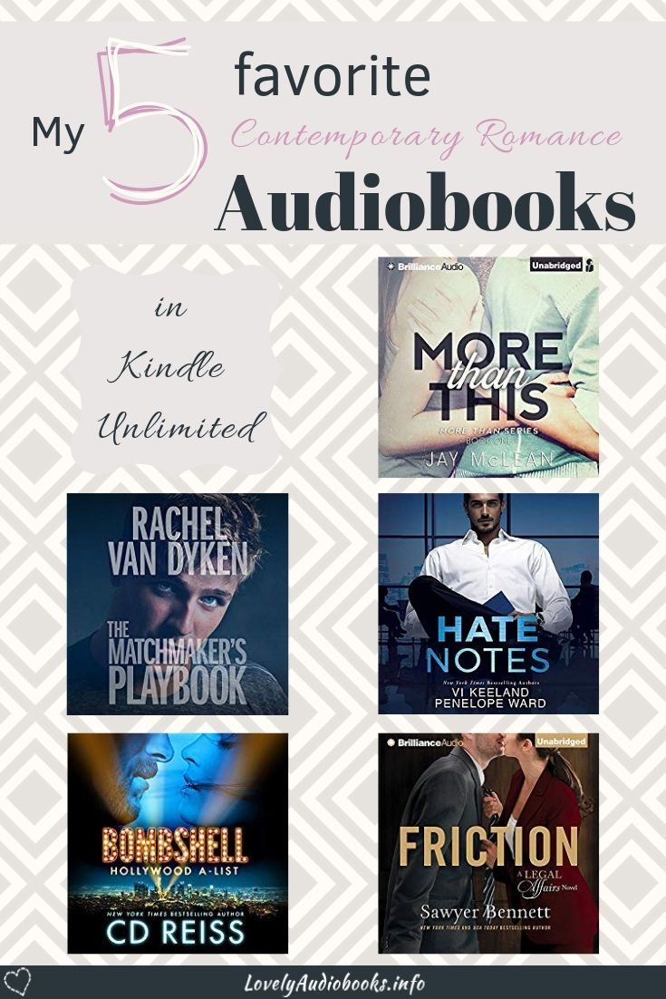 My 5 Favorite Contemporary Romance Audiobooks in Kindle Unlimited