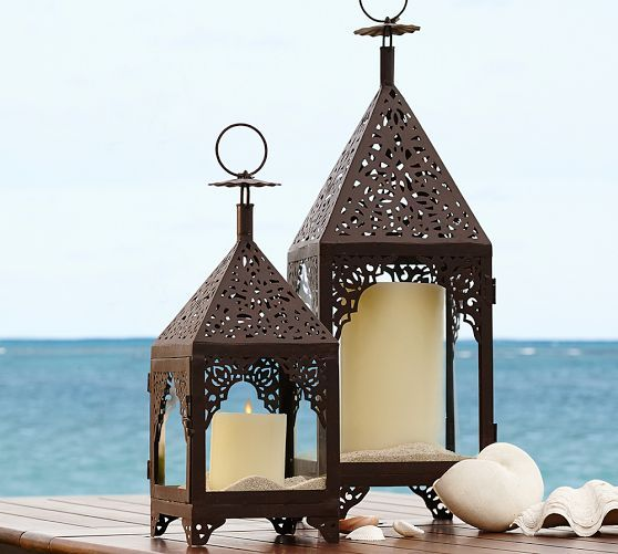 Pottery Barns White Lanterns And Votive Feature A Variety Of Styles Designs Find Mini Enjoy Outdoor Entertaining