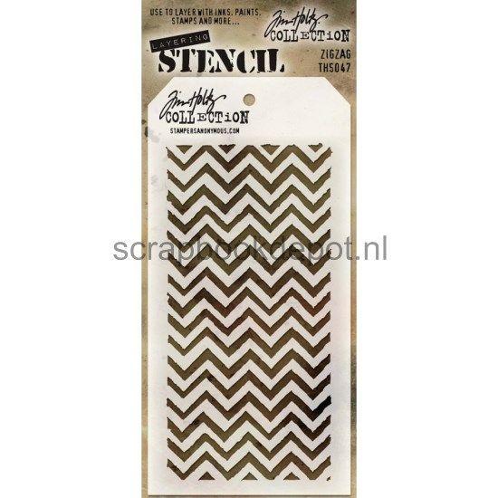Tim Holtz Layered Stencil Zigzag 4.125x8.5inch