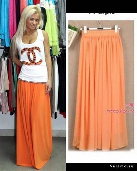 Оранжевая юбка купить