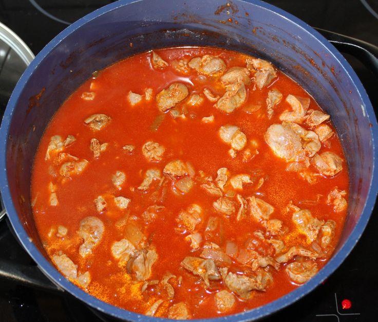 Csirkezúza pörkölt recept
