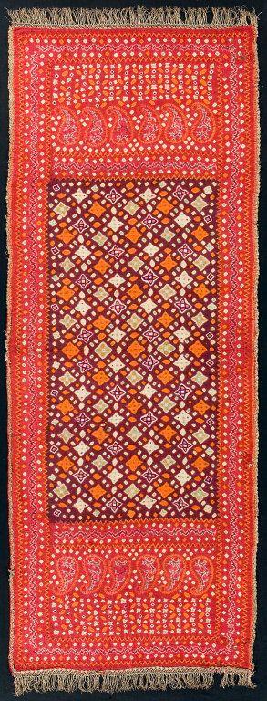 Shoulder Cloth (selendang pelangi), ca. 1900.  Indonesia, South Sumatra, Palembang area.