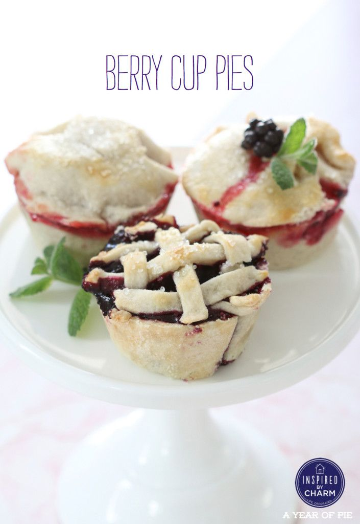 Berry Cup Pies | Inspired by Charm #ayearofpie