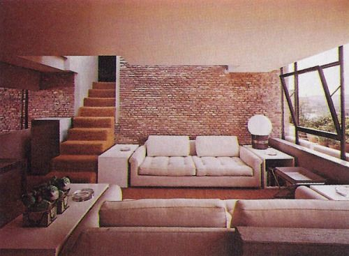 Rome apartment 1970s - architect: Gae Aulenti The NYT book of interior design and decoration - 1976