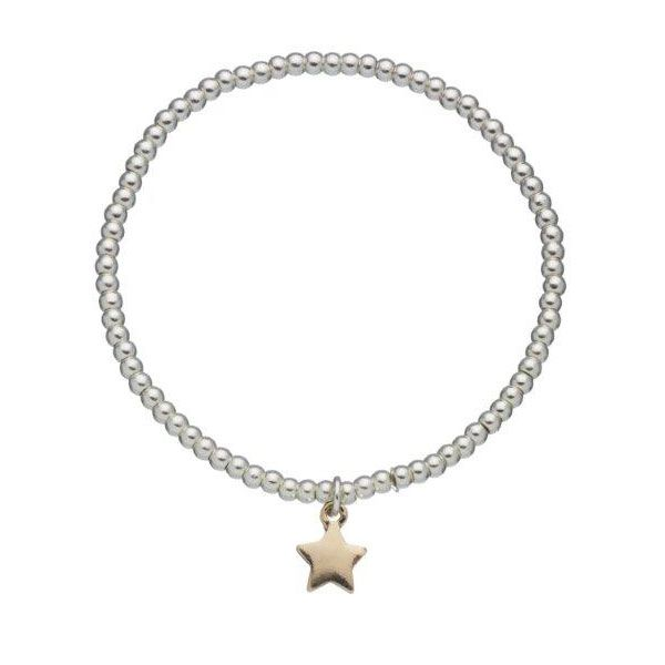 Beautiful Estella Bartlett Silver Plated Sienna Gold Star Bracelet, crafted from tiny silver plated beads and finished with a stunning gold plated star charm. Add this brand new Estella addition to your favourite bracelets and layer up to create a stylish look.