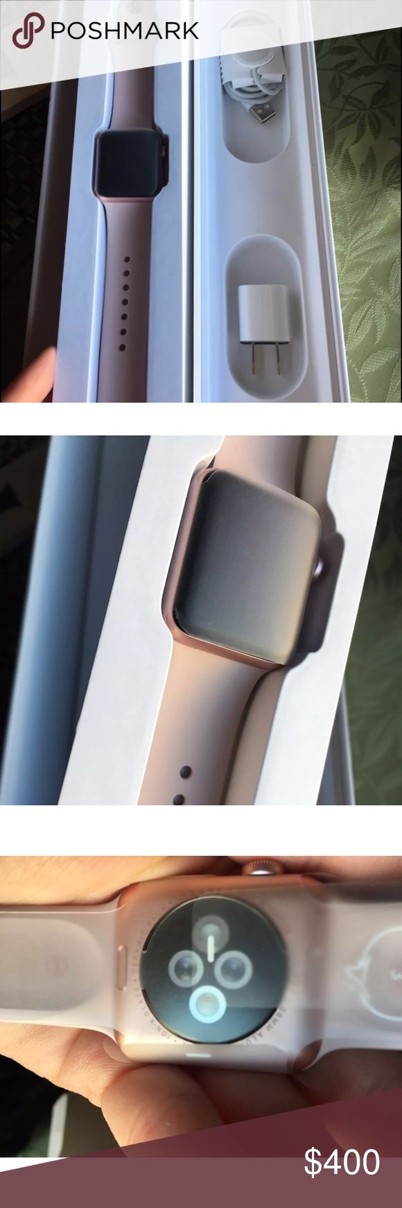 Brand new Apple Series 2 Watch Rose Gold-Skinomi Category: Cell Phones & Accessories > Smart Watches Brand: Apple Case Material: Aluminum Model: Watch Series 2 Band Color: Pink MPN: MNNY2LL/A Band Material: Fluoroelastomer Operating System: Apple Watch OS Series: Apple Watch Series 2 Compatible Operating System: iOS - Apple Screen Protector: Skinomi Case Size: 38mm New In open box.  Professionally installed military grad screen cover.  Was gift that was rejected.  My loss. Apple Accessories…