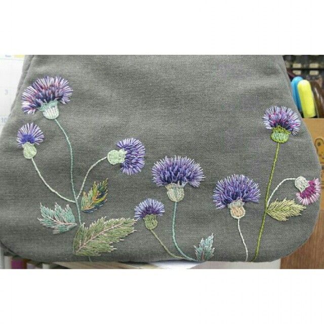 Beautiful color work in this embroidery example.