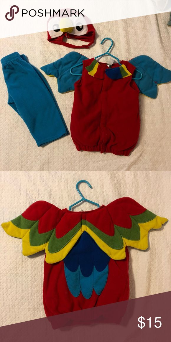 Halloween costume for baby Adorable fleecy parrot costume with vest, pants and hat. Super comfy for babies and easy to get on/off! Old Navy Costumes Halloween