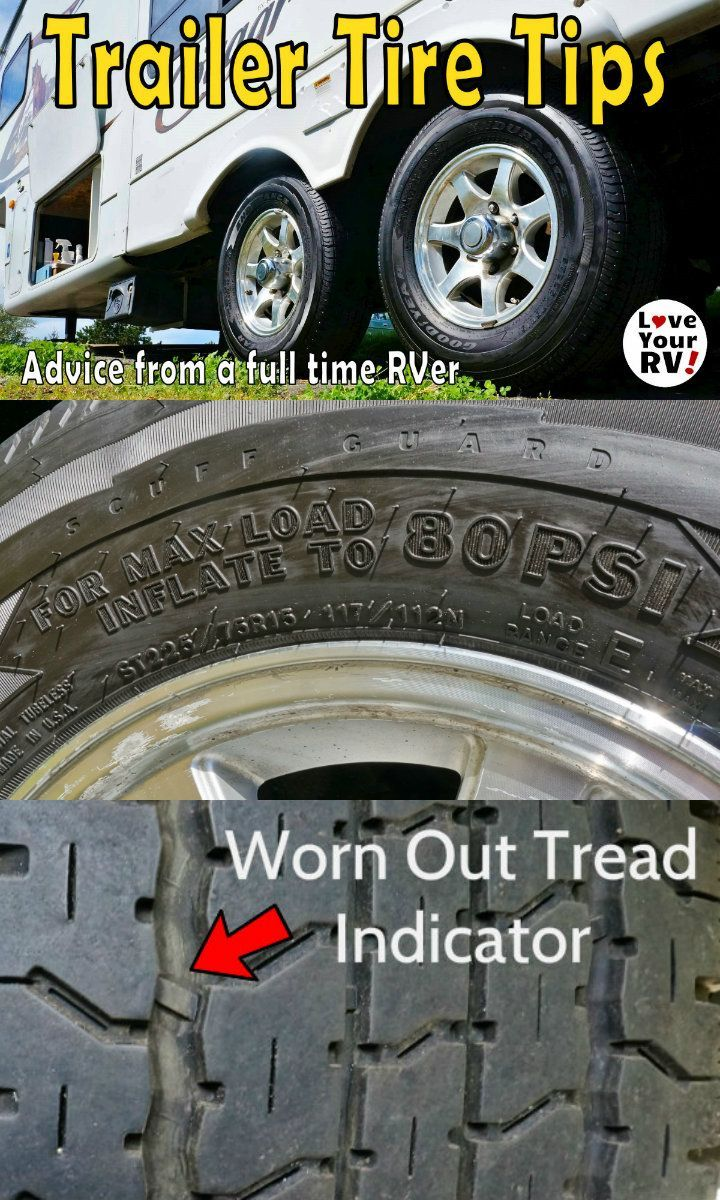 Fifth Wheel and Travel Trailer tire tips and advice from a full time RVer at the Love Your RV blog - http://www.loveyourrv.com/fifth-wheel-travel-trailer-tire-tips/