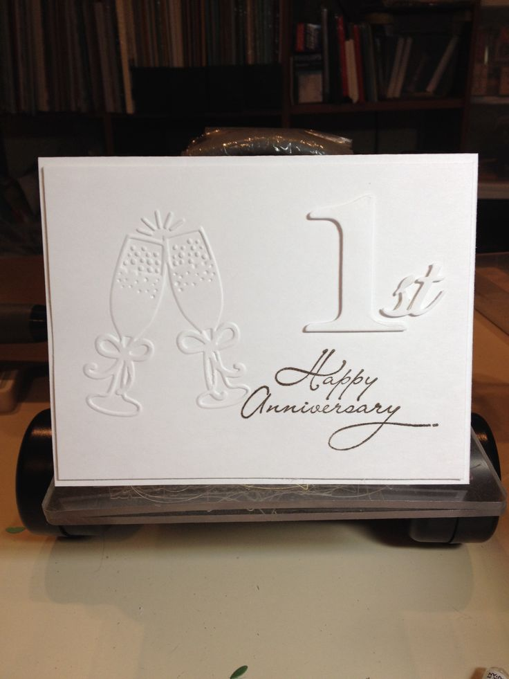 Anniversary card made for my son and daughterinlaw