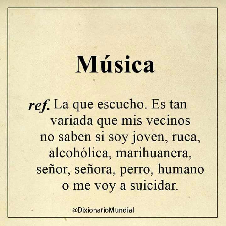 El caso es escuchar música...