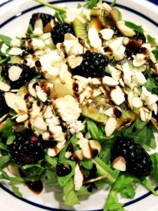 Berry Almond Goat Cheese Salad