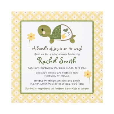 79 best turtle baby shower images on pinterest   turtle baby, Baby shower invitations