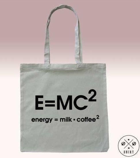 Tote bag, Shopping bag with print, Coffee, Milk, Energy, Funny tote bag, Shopping bag, Market Bag, Quote bag,