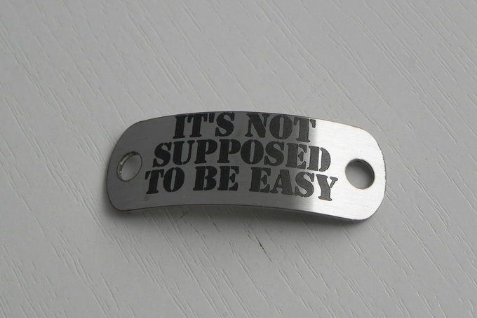 Give this motivational shoelace tag as a gift to somebody challenging their limits.
