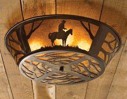 Cowboy Ceiling Light Fixture