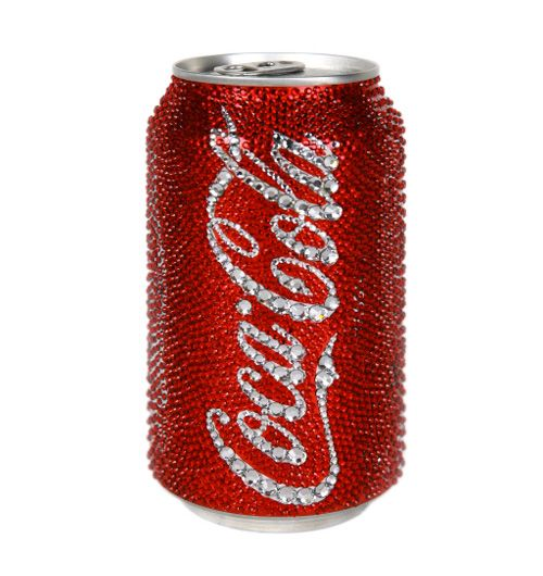 "Swarovski Coke can!  ""Can't Beat the Real Thing!"""
