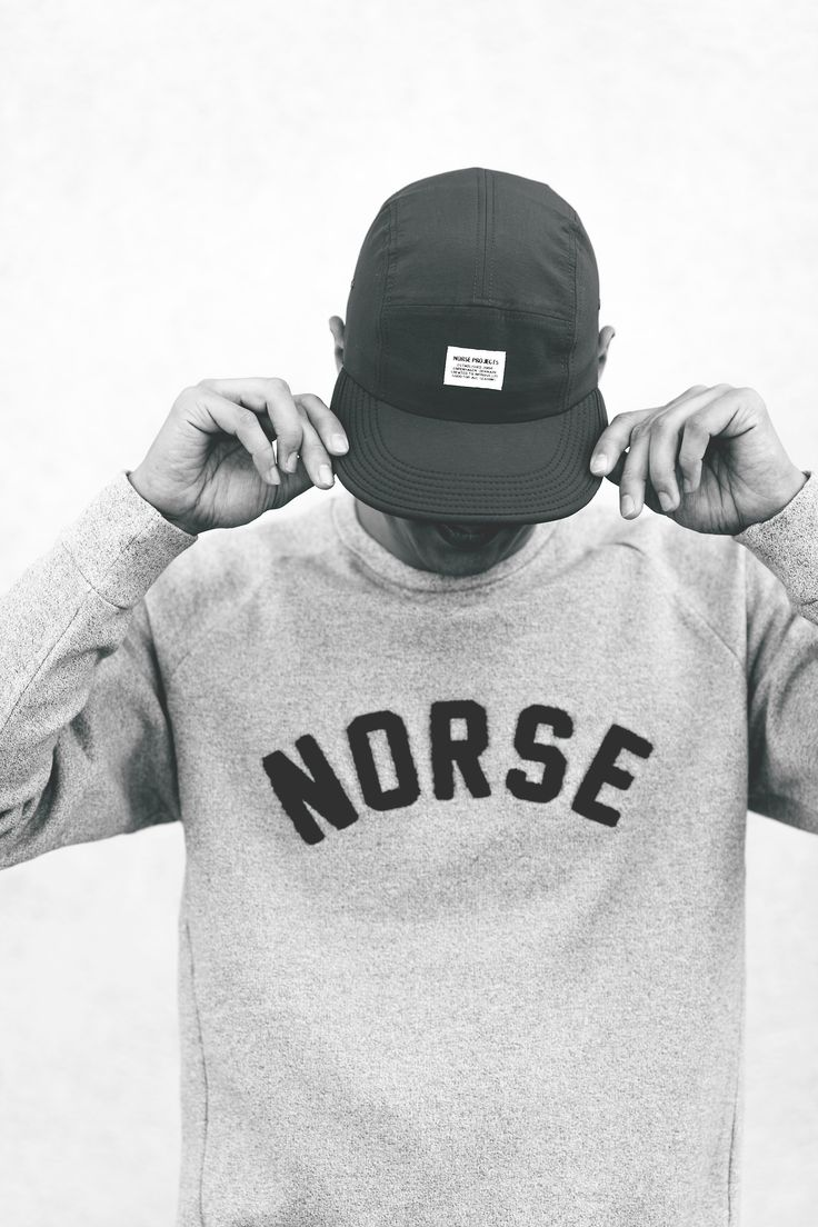 Sweatshirt and cap. Norse Projects. Fall 2013. Copenhagen.