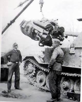 Elefant, Removal of the engine group.