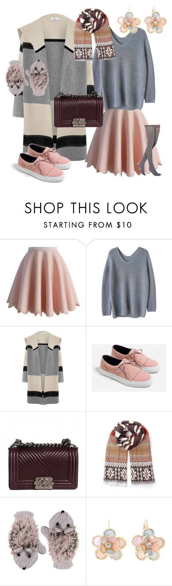 """подростки"" by marjanavoroncova ❤ liked on Polyvore featuring Chicwish, Vince, Zara, Chanel, Mixit and Gipsy"