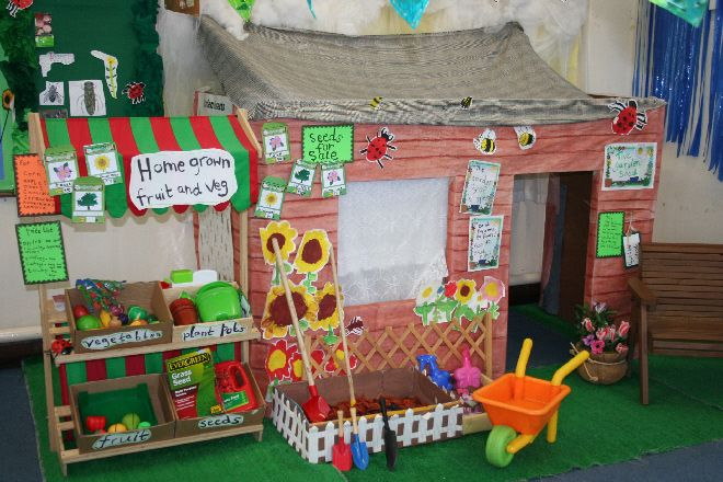 Garden role-play area classroom display photo - Photo gallery - SparkleBox