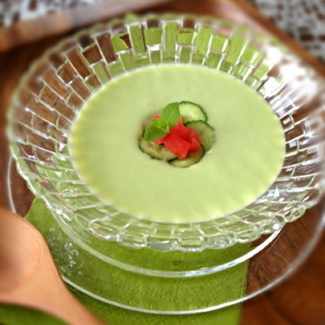 何となくだるく食欲の無い朝は… 冷たいスープ ほんのりグリーンが目にも爽やか - 57件のもぐもぐ - 冷製枝豆スープ by AIMABLE