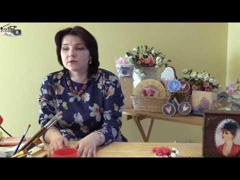 Мастер-класс Елены Удаловой в технике декупаж (изготовление ключницы) - YouTube