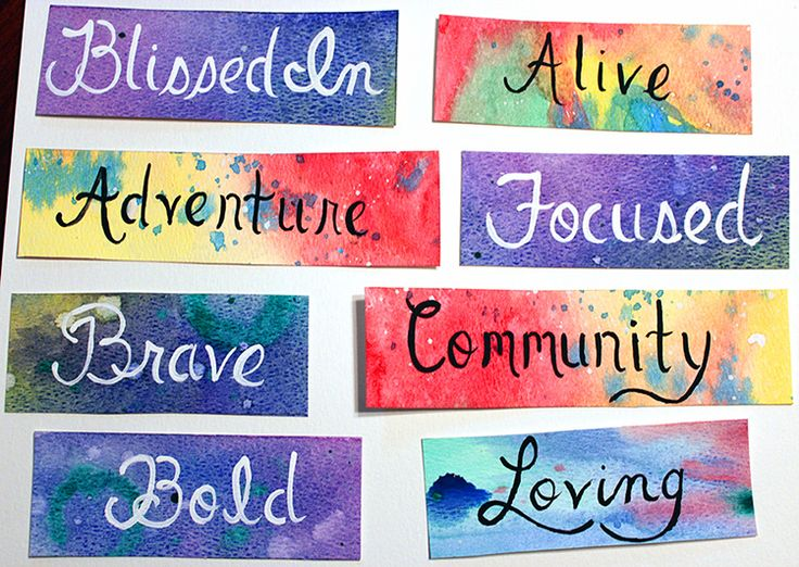 power words 2014 Vision Board Daily Tips Pinterest