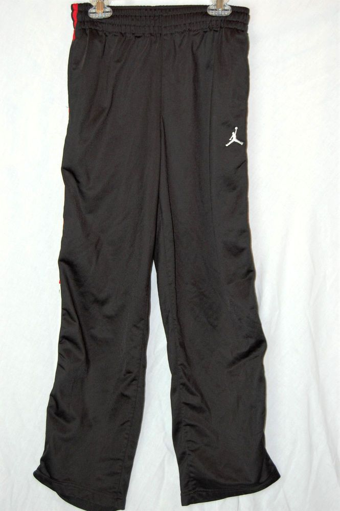 844d9ffb0df Nike Air Jordan Sweat Pants Size Large 16 18 Boys Black Red Pockets Track # NikeAirJordan #AthleticSweatPants