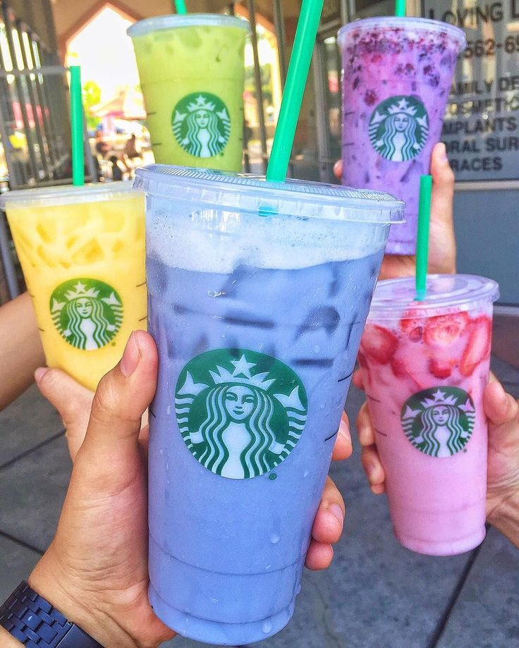 "Starbucks' Colorful ""Secret"" Drinks Now Span the Tasty Rainbow | Brit + Co"