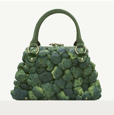 Handbag made of broccoli © Fulvio Bonavia