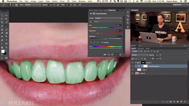 Phlearn - Photoshop teeth whitening