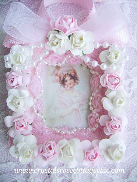 Pink Victorian Girl with Roses Ornament