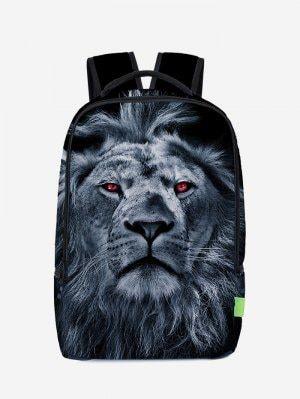 Lion 3D Print Backpack - Deep Blue