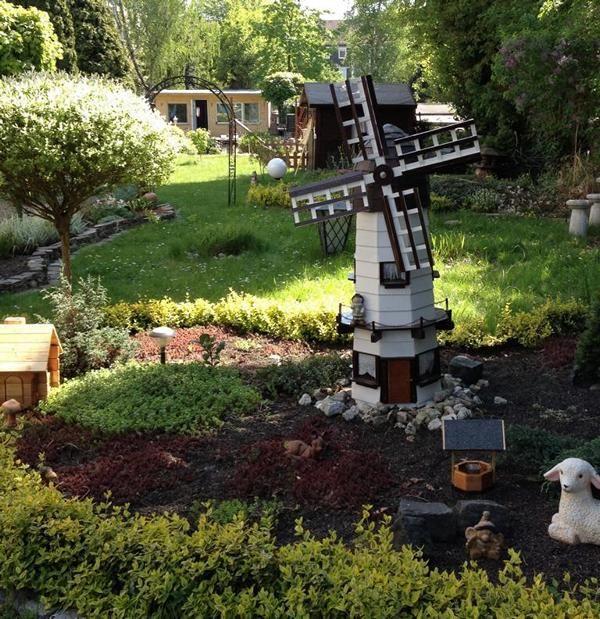 Gartenwindmühle 160 cm x 50 cm Bauanleitung zum selber bauen
