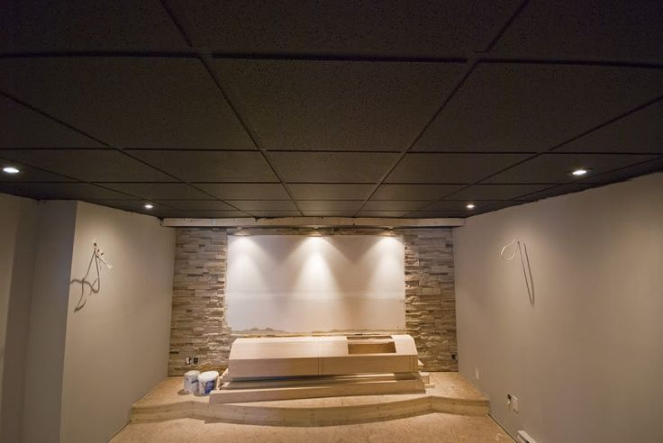 Painted Basement Ceiling Tiles Interior Diy Pinterest