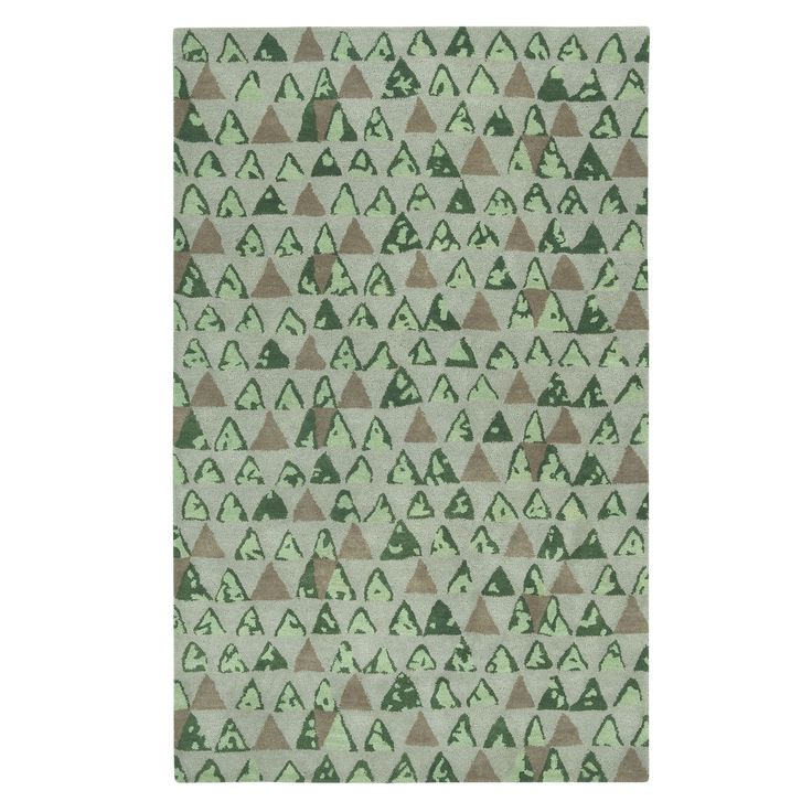Charisma-Pyramid Rectangle Hand Tufted Rugs (3' x 5') (Beach), Brown, Size 3' x 5' (Wool, Abstract)