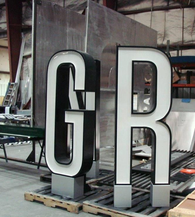 These letters are 6 ft. tall!