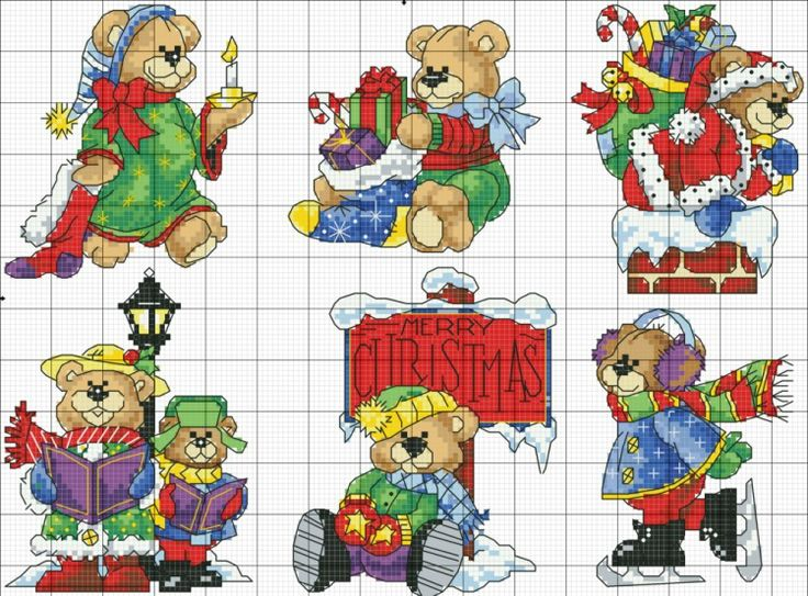 Teddy Cross Stitch Charts