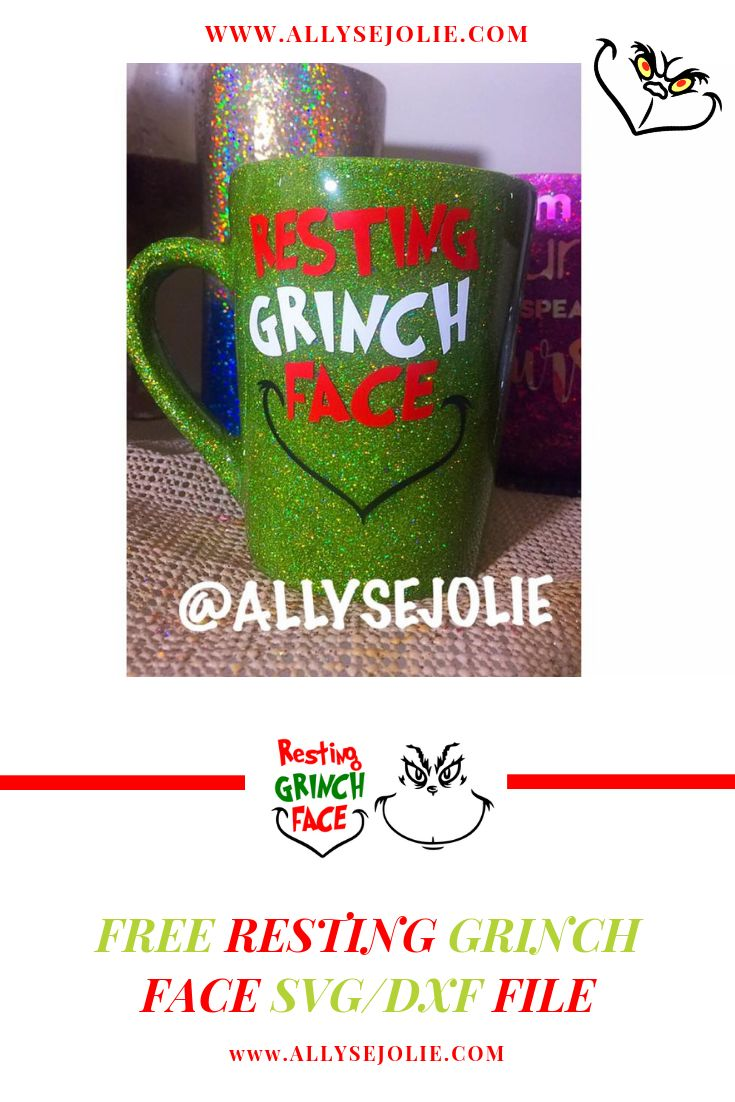 Resting Grinch face Svg, Grinch face Vector, The Grinch